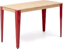 Mesa Lunds Estudio 110x70x75cm Roja madera acabado