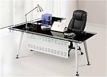 Mesa Oficina mueble a derecha, cristal, 180x85 cms