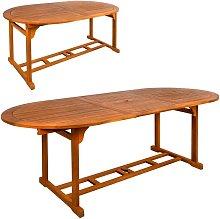 Mesa ovalada extensible en madera acacia aktive