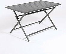 Mesa para exterior plegable rectangular   Aluminio