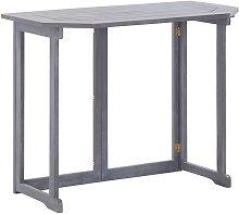 Mesa plegable de balcón madera de acacia maciza