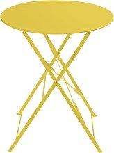 Mesa plegable de jardín de metal amarilla Ø