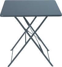 Mesa plegable de jardín de metal epoxi gris para