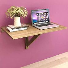Mesa plegable de pared color roble 100x60cm Vida XL
