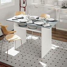 Mesa plegable Dmora, mesa auxiliar resellable, con