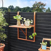 Mesa plegable en madera de acacia con certificado