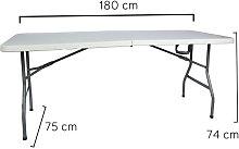 Mesa plegable rectangular 180x75x74cm
