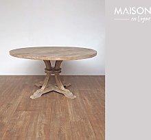 Mesa redonda en madera Valbelle