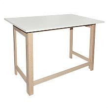 Mesa tapa plegable sin barniz melamina blanca
