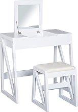 Mesa tocador de maquillaje 2 en 1 espejo abatible