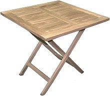 Mesa Vulcano plegable 80x80 cm de madera de teca  