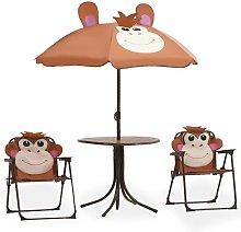 Mesa y sillas de jardín infantil 3 piezas con