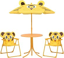 Mesa y sillas de jardin infantil 3 pzas con