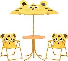 Mesa y sillas de jardín infantil 3 pzas con