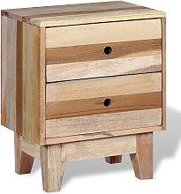 Mesita de noche de madera reciclada maciza - Hommoo