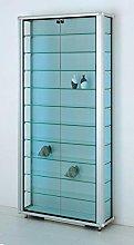 MHN Vitrina de pared de cristal ancha con cierre,