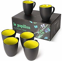MIAMIO - 6 x 350 ml Juego de Taza de Café/Copa de