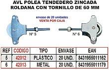 MIBRICOTIENDA avl polea tendedero 5 zincado 60 mm