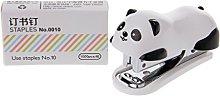 MIKI-Z Mini Panda Grapadora Set Carpeta de Papel