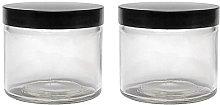 mikken - Juego de 2 tarros de cristal de 250 ml