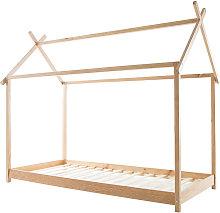 Miliboo - Cama y somier infantil cabaña madera