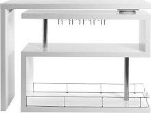 Miliboo - Mueble-bar diseño lacado blanco móvil