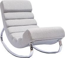 Miliboo - Sillón mecedora moderno en tejido gris