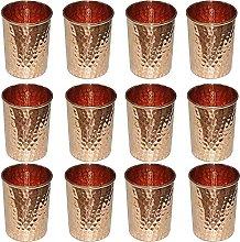 MILLIONSTORE Vasos de cobre martillados vasos de