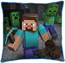 Minecraft Cojín Cuadrado de Dos Caras para Cama