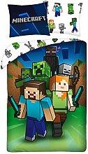 Minecraft - Juego de Cama (algodón, Funda