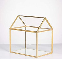 MINGZE geométrico Terrario, de Cristal Hecho a