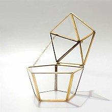 MINGZE Terrario de estilo retro transparente forma