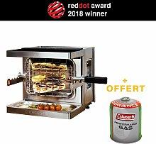 Mini Barbacoa de gas móvil Chef de carne -