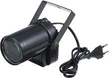 Mini foco LED, carcasa negra, luz blanca,
