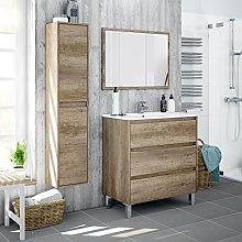 Miroytengo Lote mobiliario baño con Mueble de 3