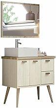 Miroytengo Mueble baño Retro con Espejo Drya