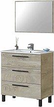 Miroytengo Mueble de baño Aseo Athena Color Roble