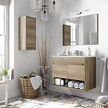 Miroytengo Pack mobiliario baño con Mueble,