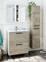 Miroytengo Pack Mueble baño con Lavabo, Columna y