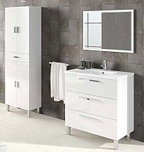 Miroytengo Pack Muebles baño Blanco Brillo con