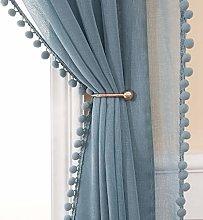 MIULEE Cortinas Salon Visillos con Pompones para