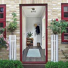 MKNCILN Etiqueta engomada puerta arte Perchero de