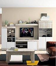Mobelcenter - Mueble Salón Logan 004 - Blanco y