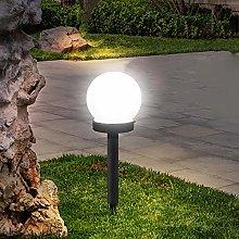 Mobestech luces de tierra solares pantalla de bola