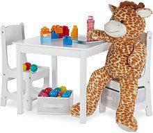 Mobiliario infantil, Dos sillas y una mesa, Dos