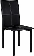 Mobimarket - Silla tapizada en PU color negro