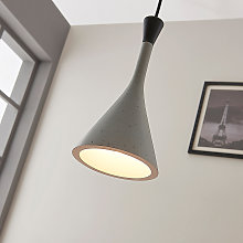 Moderna lámpara colgante Flynn, gris hormigón
