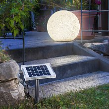 Moderna lámpara esférica solar LED Mega Stone 40