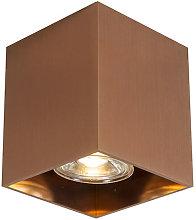 Moderno Foco cuadrado cobre - QUBO 1 Aluminio Cubo