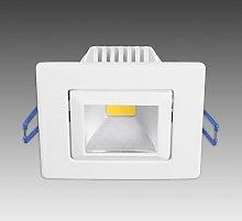 Moderno foco LED empotrado Pound blanco